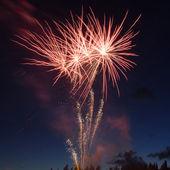 Fuochi d'artificio colorato rosso — Foto Stock