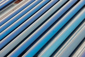 Vacuum collectors- solar water heating system — Stock Photo