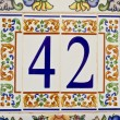 House Number — Stock Photo #37681059