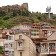 Traditional wooden carving balconies of Old Town of Tbilisi, Rep — Foto de Stock