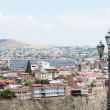 Stock Photo: Churches and domes of Tbilisi, view to historical part of capital of Republic of Georgia