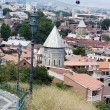 Churches and domes of Tbilisi, view to historical part of the ca — Stock Photo