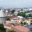 Stock Photo: Churches and domes of Tbilisi, view to historical part of ca