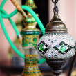 Closeup of mosaic lamp in arabic style — Stockfoto