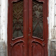 Art-Nouveau old door in Tbilisi Old town, Republic of Georgia - Foto Stock