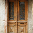 Art-Nouveau old door in Tbilisi Old town, Republic of Georgia - Stock Photo