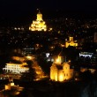 Stock Photo: Night view to Old town of Tbilisi, Georgia (country)