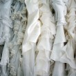 Stock Photo: White bride dresses details
