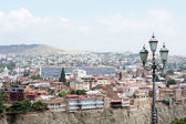 Churches and domes of Tbilisi, view to historical part of the capital of Republic of Georgia — Stock Photo