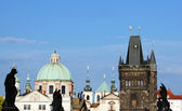 St. Francis Knights of the Cross church in Prague Old Town — Stock Photo