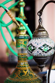 Closeup of mosaic lamp in arabic style — Stock Photo