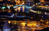 Night view to Old town of Tbilisi, Georgia (country) — Stock Photo