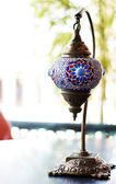Closeup of mosaic lamp in arabic style — Stock Photo