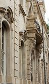 Dettagli di facciate art nouveau e arredi edificio nella vecchia tbilisi — Foto Stock