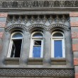 Art-Nouveau facade in Tbilisi Old town, restored area — Stock Photo