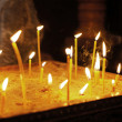 Candles in the orthodox georgian church - Stok fotoğraf