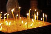 Candles in the orthodox georgian church — Stock Photo