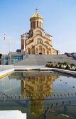 Największą prawosławną katedrą regionu kaukazu - świętej trójcy — Zdjęcie stockowe