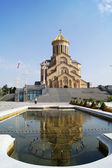 The biggest orthodox cathedral of Caucasus region - St. Trinity — Stock Photo