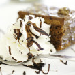 Stock Photo: Chocolate brownie with vanillice-cream and chocolate sauce