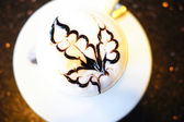 Cup of cappuccino with heart — ストック写真
