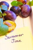 Prugne fresche — Foto Stock