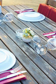 Outdoor table — Foto de Stock