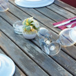 Outdoor table — Stock Photo