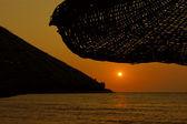 Zachód słońca nad morze egejskie — Zdjęcie stockowe
