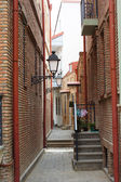 View of traditional narrow streets of Old Tbilisi — Stock Photo