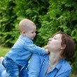 little baby boy with his mom — Stock Photo