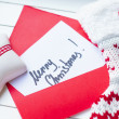 Merry Christmas note — Stock Photo