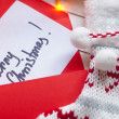 Merry Christmas note — Stock Photo #34667113