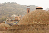 Domes of ancient sulfuric baths — Stock Photo