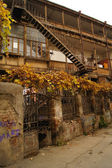 Outdoor stairs in Old Tbilisi — Stock Photo