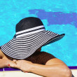 Woman in a pool — Stock Photo