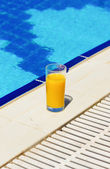 Juice at the pool — Stock Photo