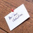 Stock Photo: Love note
