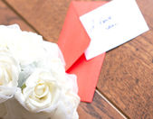 Love notes and envelope — Stockfoto