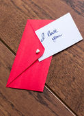Love notes and envelope — 图库照片