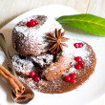 Lava cake — Stock Photo