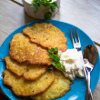 Fried potato pancakes — Stock Photo #41642521