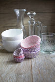 Tableware and decor — Stockfoto
