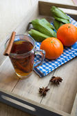 Tea with orange — Stockfoto