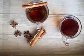 Tea with orange — Stock Photo