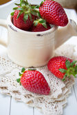 Fresh strawberry fruits — Stock Photo