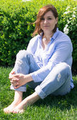 Nice woman outdoor portrait — Stock Photo