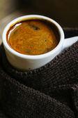 Winter time, hot coffee — Foto de Stock