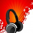Headphone background — Stock Vector #1638658