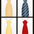 Colored tie set — Wektor stockowy  #2591539